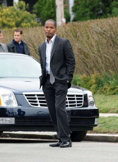 "Jamie Foxx on location ""Law Abiding Citizen"""
