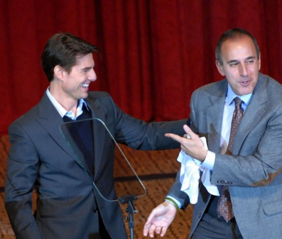 Tom Cruise and Matt Lauer at the Friars Club roast